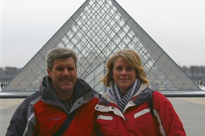 Us Outside of the Louvre