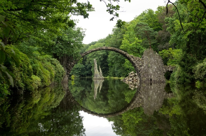 Germany Rakotzbrücke also known as Devil's Bridge.jpg